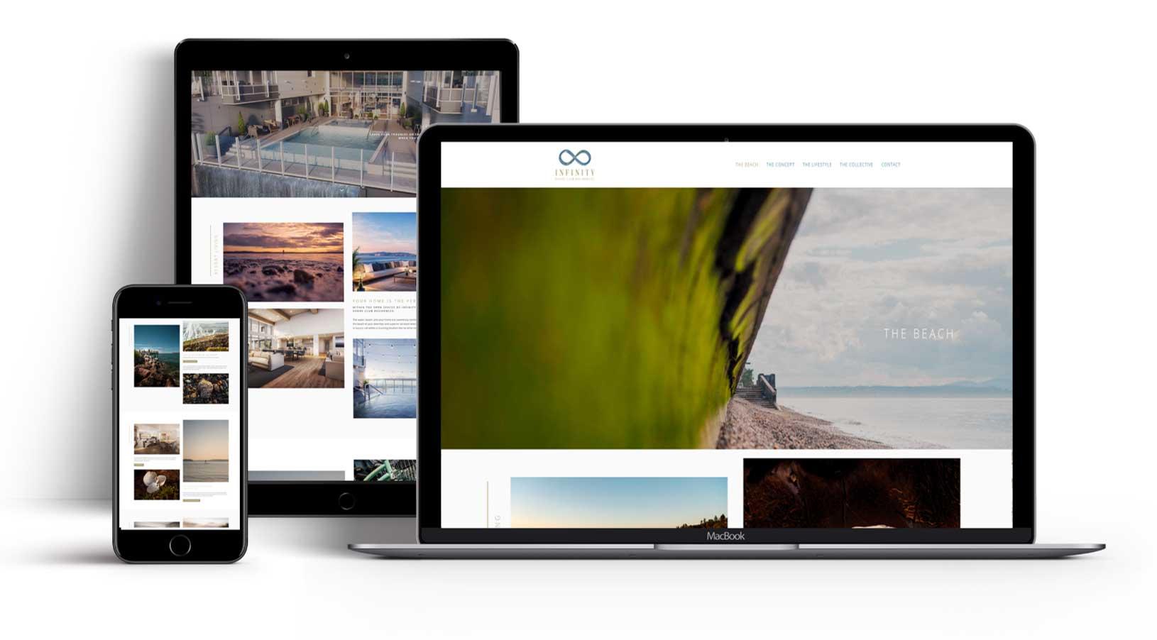 Infinity Website Imagery