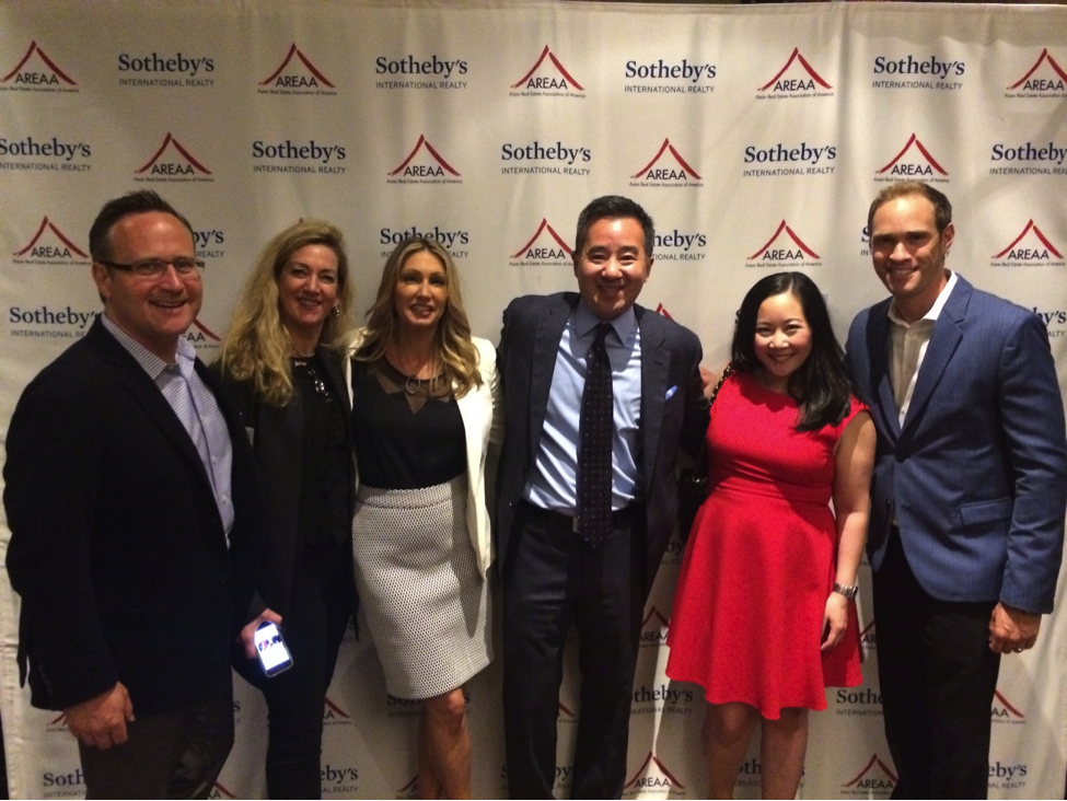 Pictured Above: Stacy Jones, Owner of RSIR and Mike Seto, Co-Owner of Jameson Sotheby's International Realty stand center with members of their team during the opening ceremony.