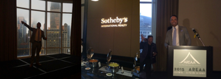Pictured Above and Below: Sotheby's International Realty remains a large supporter of AREAA initiatives and was a proud sponsor of the opening ceremony for the AREAA Global & Luxury Summit presented by Global Vice President, Michael Valdes