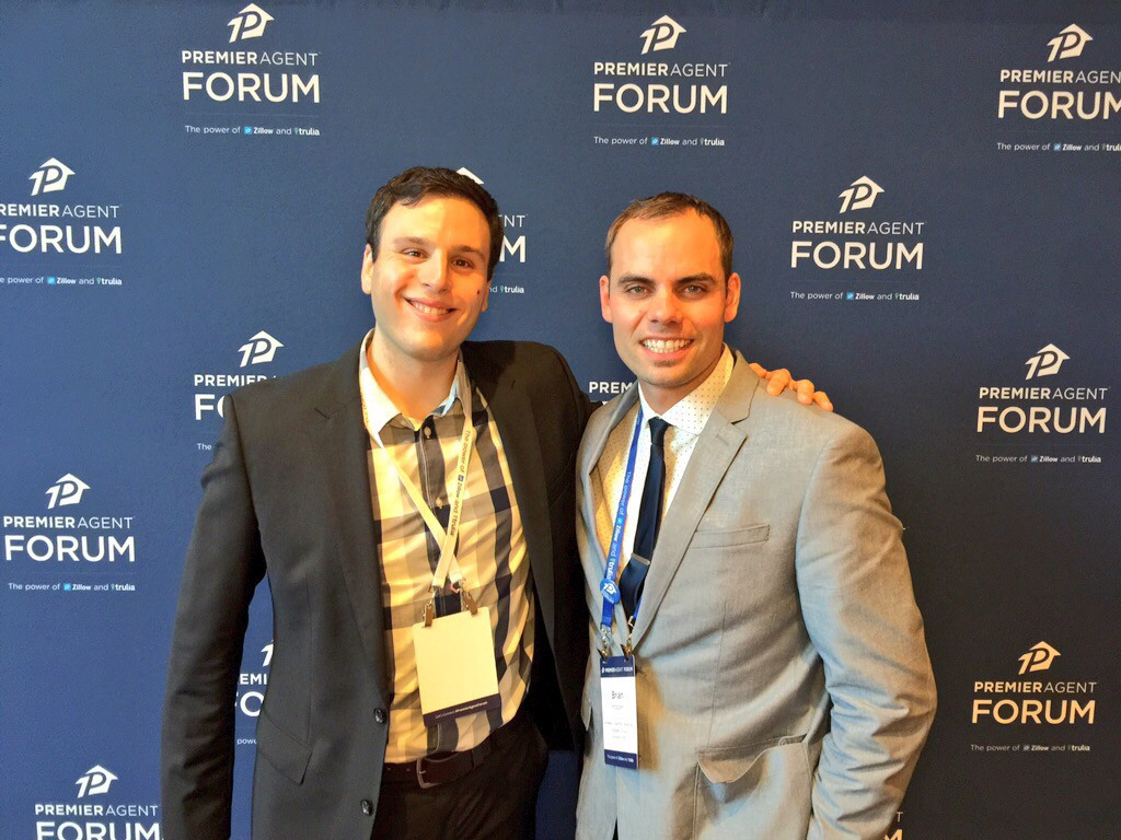 Brian Hopper (right) with Zillow's social media guru, Grant Gurewitz