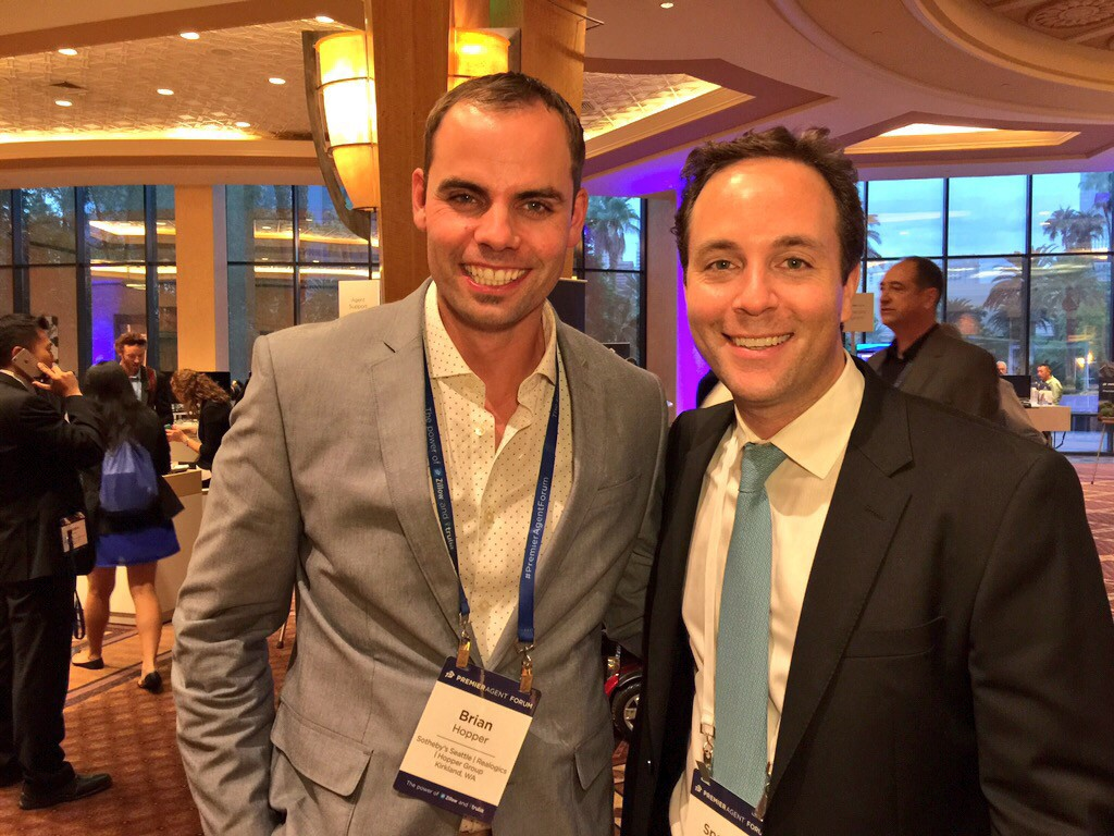 Above: Brian Hopper with Zillow Group CEO Sepncer Rascoff